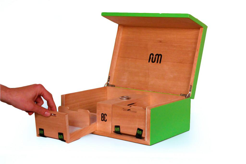 cajas fum de undergrow tv LARGA VERDE (abierta)